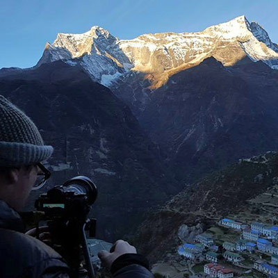 Sunrise over Namche..........certainly worth the cold start to the day!