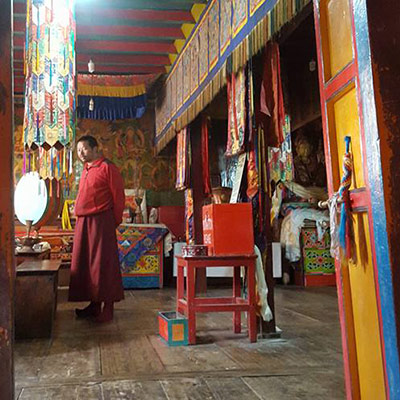Monastery Namche - a colourful and calm place